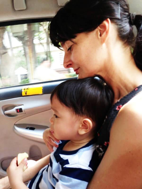 Adoption - Erste Erfahrungen mit unserem Adoptivkind - im Taxi